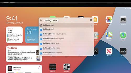 البحث - iPadOS 14