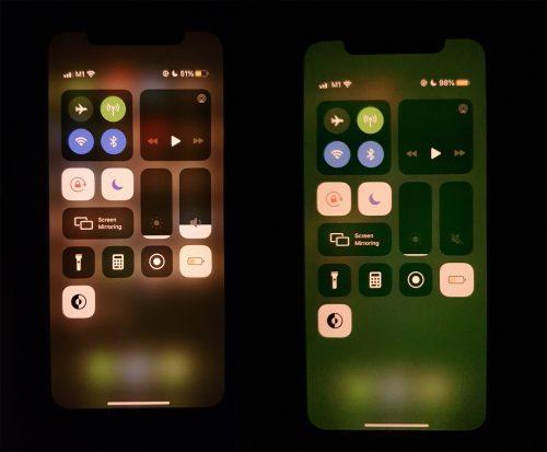 هواتف ايفون 11 - شكاوى من مشكلة الشاشة الخضراء !
