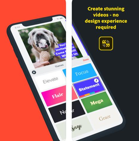 تطبيق Adobe Spark Video لإنشاء مقاطع فيديو قصيرة
