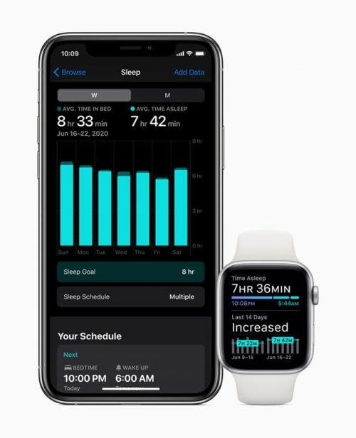 iOS 14 و watchOS 7 - تتبع النوم
