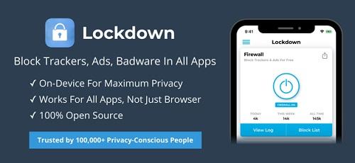 تطبيق Lockdown Apps جدار ناري للايفون