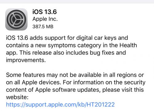 ابل تطلق تحديث iOS 13.6 مع ميزة CarKey المنتظرة - وإليك أهم المميزات والتغيرات!