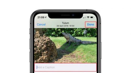كيفية إضافة وصف Caption للصور في تطبيق الصور