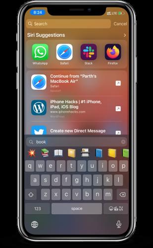 لوحة المفاتيح الافتراضية في تحديث iOS 14 و iPadOS 14