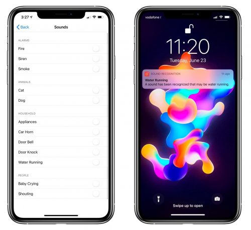 تحديث iOS 14 التعرف الذكي على الأصوات