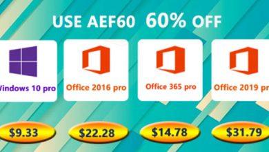Photo of منتجات مايكروسوفت ويندوز 10 برو و برامج الأوفيس متوفرة بأرخص الأسعار!