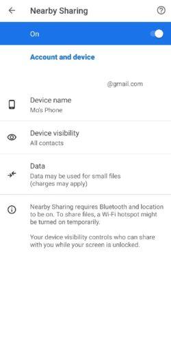 كيفية تفعيل واستخدام خاصية Nearby Share لنقل الصور والملفات بين هواتف أندرويد