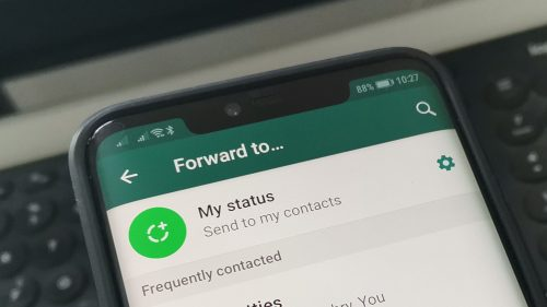 Forwarded Messages in WhatsApp