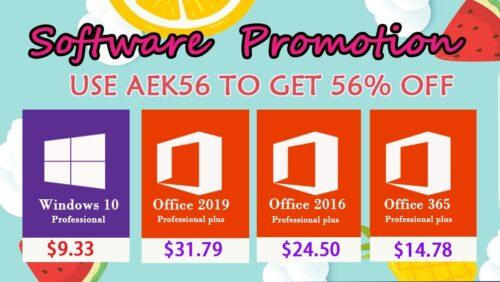 خصومات هائلة على مايكروسوفت ويندوز 10 وإصدارات أوفيس 2019 - أقل الأسعار الممكنة!