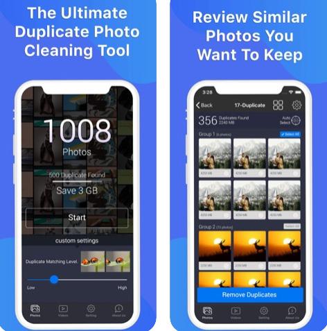 تطبيق Photos Cleaner لحذف الصور المكررة