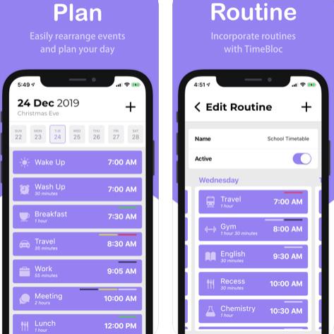 تطبيق TimeBloc لتنظيم مهام يومك