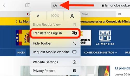 كيفية ترجمة صفحات الإنترنت عبر متصفح سفاري؟