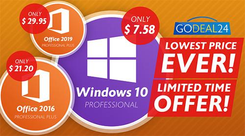 عروض حصرية - مايكروسوفت ويندوز 10 و أوفيس 2019 بأسعار تبدأ من 8 دولارات فقط!