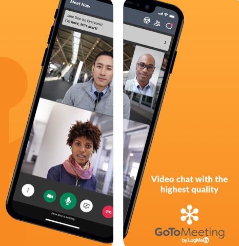 تطبيق GoToMeeting لمكالمات الفيديو الجماعية
