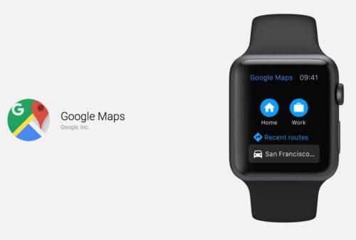 الآن تستطيع استخدام خرائط جوجل على ساعة ابل!