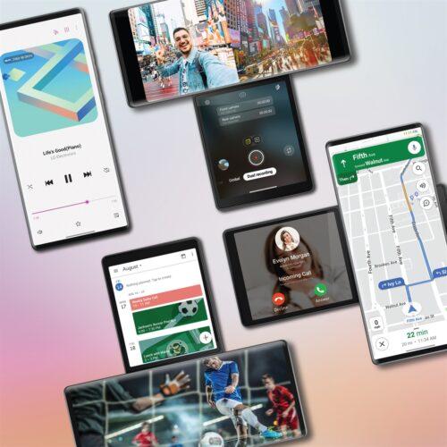 رسميًا – الكشف عن هاتف LG Wing مع شاشتين على شكل مروحة!