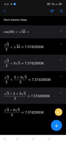 أفضل طريقة لحل المعادلات والتمارين الرياضية مباشرةً من خلال هاتفك