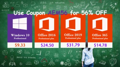 الآن يمكنك شراء برامج مايكروسوفت أوفيس 2019 و ويندوز 10 وبرامج مكافحة الفيروسات بأسعار رخيصة للغاية!