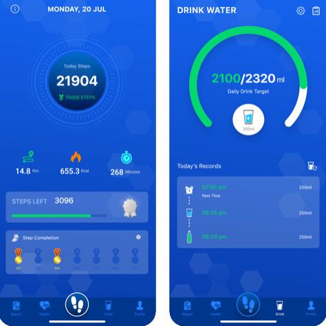 تطبيق Pedometer - عداد الخطوات والسعرات الحرارية