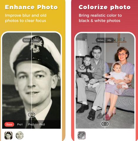 تطبيق Remini لإصلاح وترميم الصور والفيديو وتلوين الصور القديمة