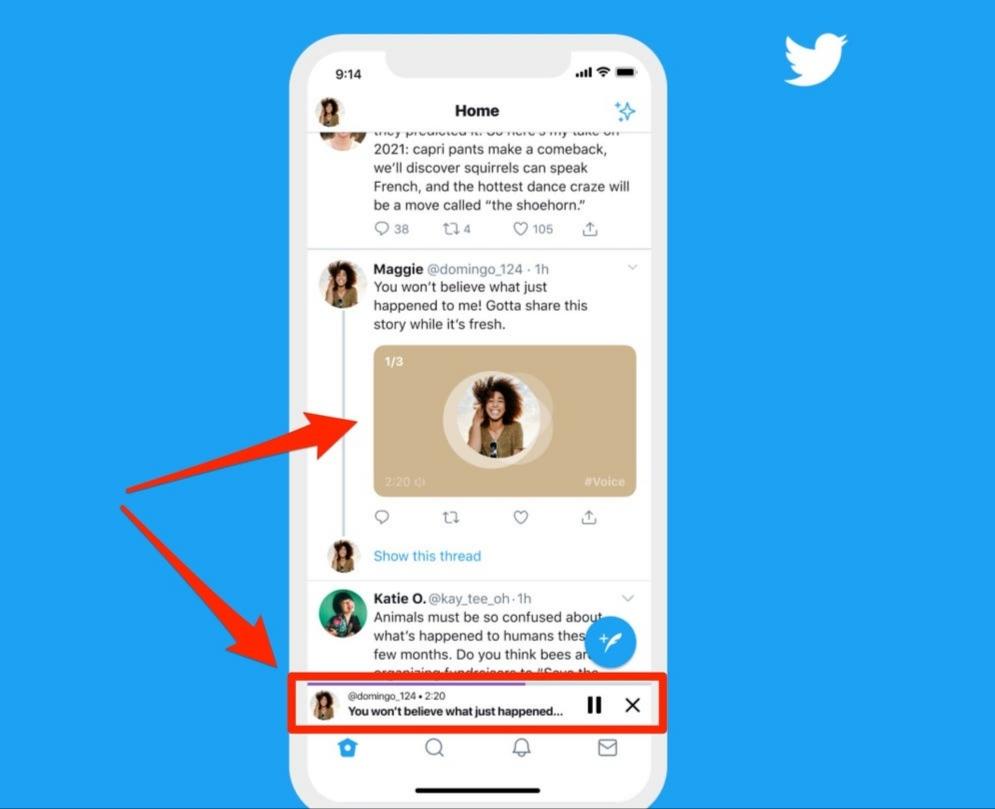 تويتر يبدأ إطلاق ميزة التغريدات الصوتية لأجهزة الايفون والايباد!