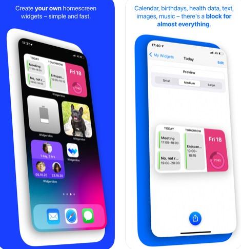تطبيق Widgeridoo لإنشاء وتخصيص ويدجت للشاشة الرئيسية