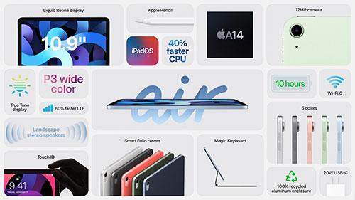 مواصفات جهاز ايباد اير iPad Air 2020