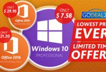 صورة عروض حصرية – مايكروسوفت ويندوز 10 و أوفيس 2019 بأسعار تبدأ من 8 دولارات فقط!