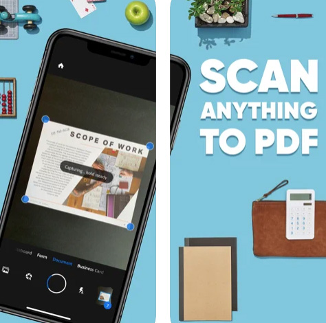 تطبيق Adobe Scan لتصوير الأوراق والمستندات