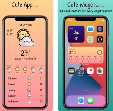 تطبيق CuteWeather - ويدجت الطقس المميز!
