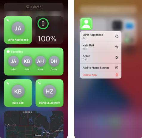 تطبيق Favorites Widgetizer - إضافة الأسماء إلى الشاشة الرئيسية