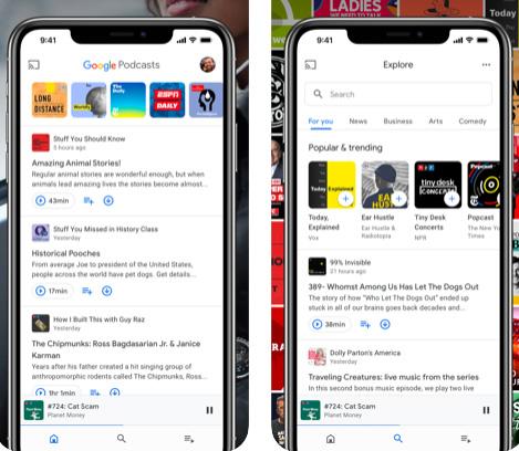 تطبيق جوجل بودكاست - استمع إلى برامج وحلقات صوتية