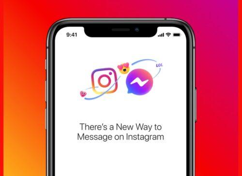 دمج الرسائل في إنستاغرام و فيسبوك