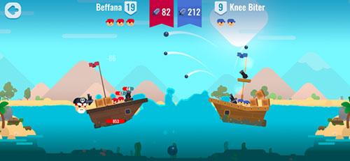 لعبة Pirate Battles - معارك بحرية!