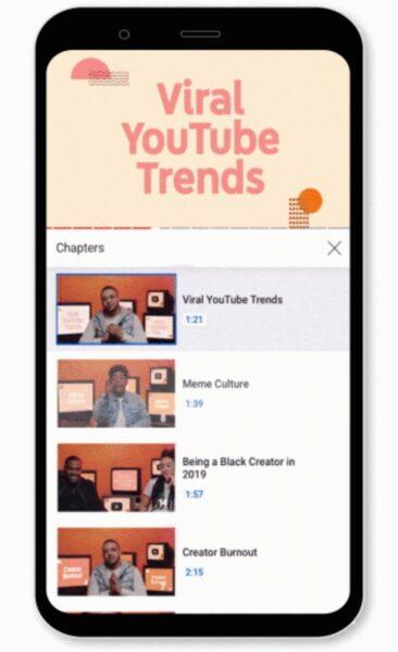 ميزة تقسيم الفيديو إلى فقرات Video Chapters