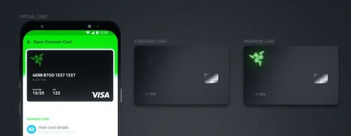 ريزر تطلق بطاقة ائتمانية مسبقة الدفع مع شعارها الأخضر المتوهّج