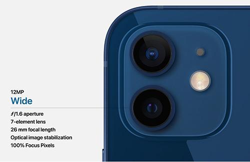 كاميرا ايفون 12 و ايفون 12 ميني