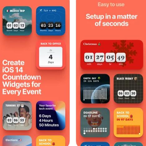 ويدجت عداد تنازلي Countdown للشاشة الرئيسية