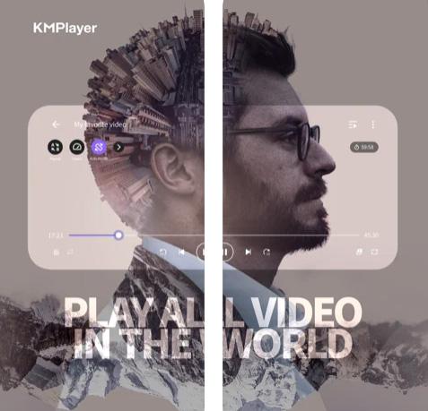 تطبيق KMPlayer مشغل فيديو وصوتيات مميز