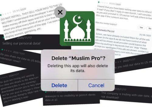 تطبيق Muslim Pro الغني عن التعريف قام ببيع بيانات 98 مليون مسلم للجيش الأمريكي!