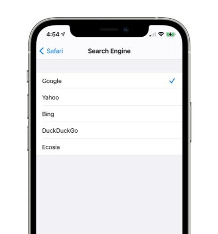 إضافة محرك بحث جديد يدعى Ecosia على الايفون والايباد