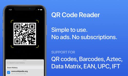تطبيق قاريء الأكواد السريعة QR Code