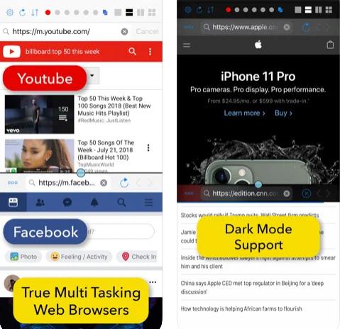 متصفح Split Screen - تصفح أكثر من تبويب معاً