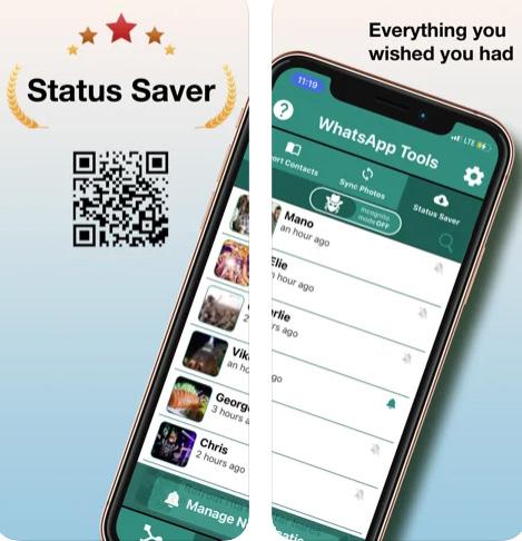 تطبيق Status Saver لتحميل حالات واتس اب