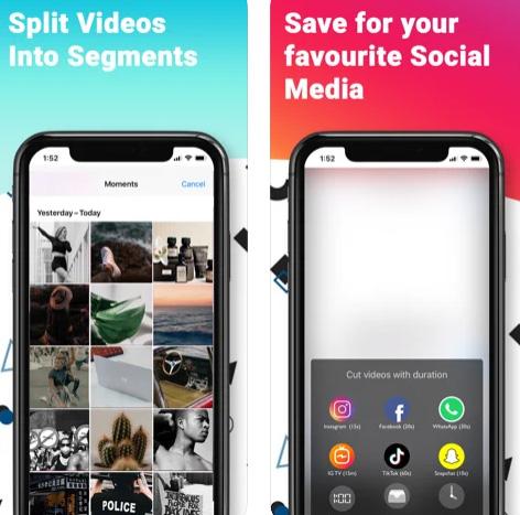 تطبيق StoriesStudio لتقطيع الفيديو