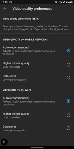 تطبيق يوتيوب يختبر إعدادات جديدة للتحكم في جودة الفيديو دون التأثير على الدقة