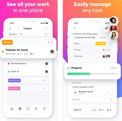 تطبيق ClickUp لإدارة فريق العمل