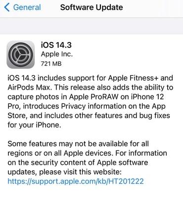 لماذا تحديث iOS 14.3 مهم؟