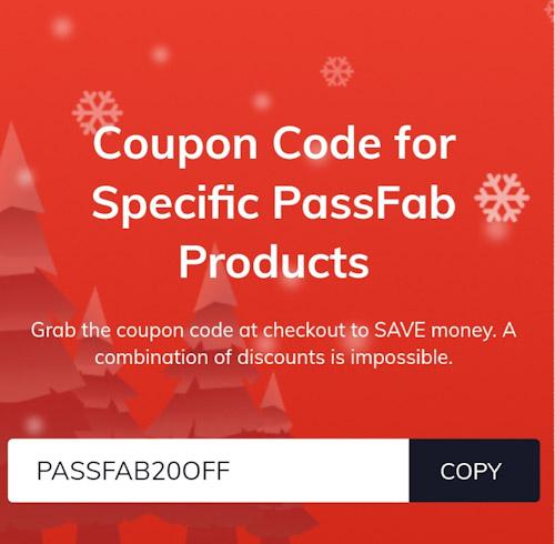 خصومات كبيرة على برامج شركة PassFab