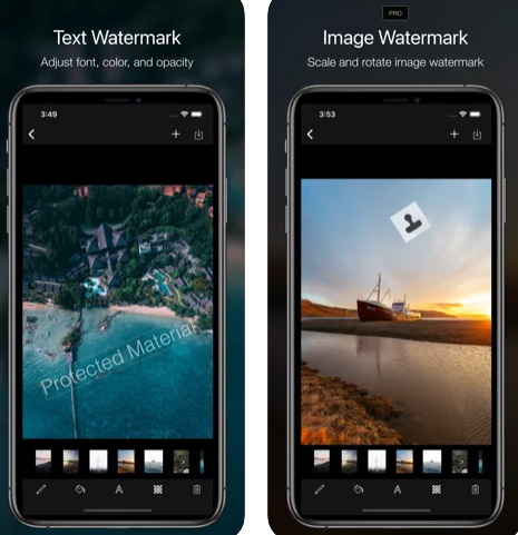 تطبيق Ray Watermark لوضع علامة مائية على الصور